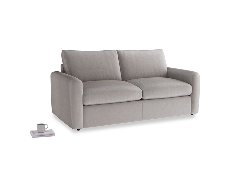 Chatnap Sofa Bed in Soothing grey vintage velvet with both arms
