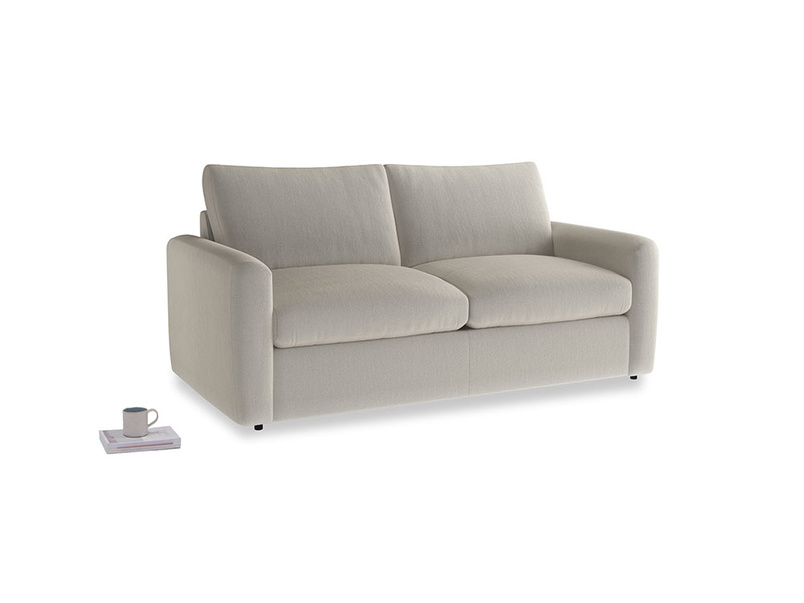 Chatnap Sofa Bed in Smoky Grey clever velvet with both arms