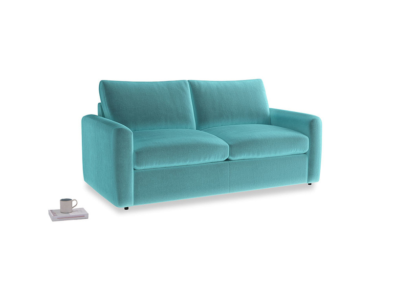 Chatnap Sofa Bed in Belize clever velvet with both arms