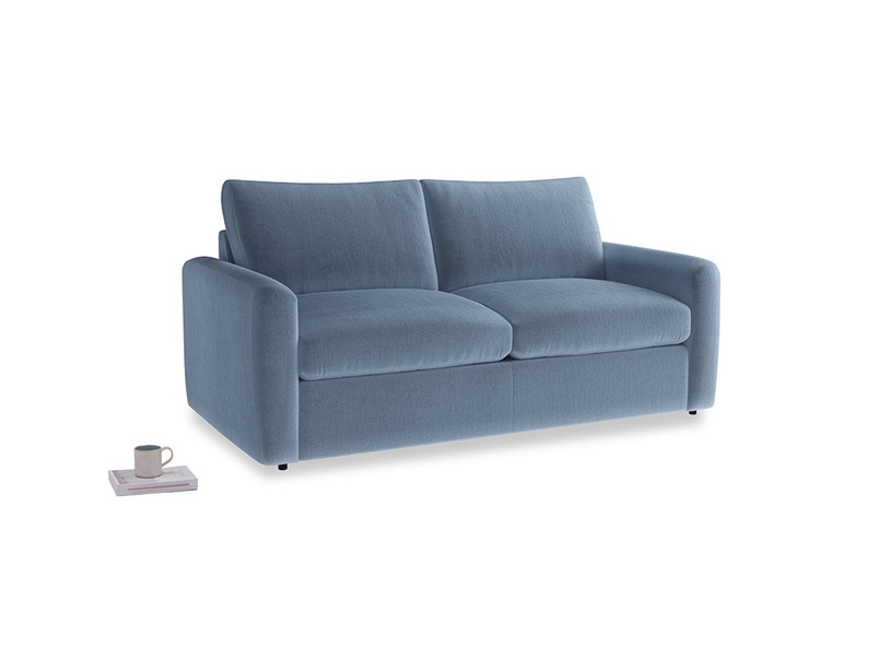 Chatnap Sofa Bed in Winter Sky clever velvet with both arms
