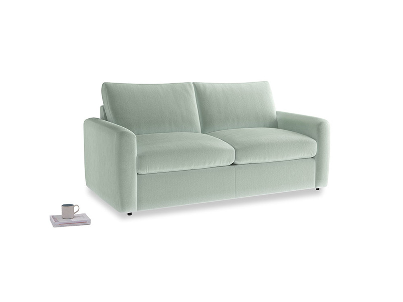 Chatnap Sofa Bed in Mint clever velvet with both arms