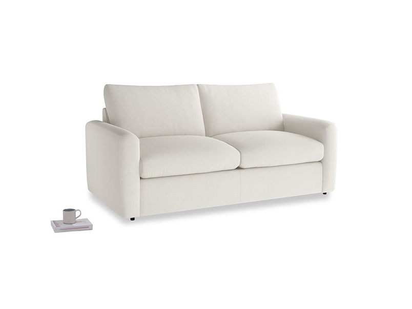 Chatnap Sofa Bed in Oyster white clever linen with both arms
