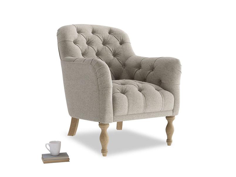 Reader Armchair in Birch wool