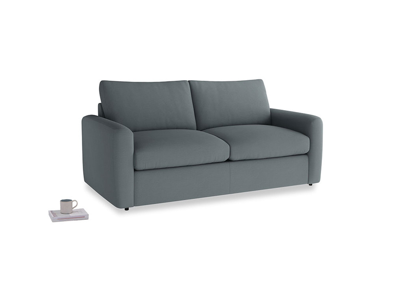 Chatnap Sofa Bed in Meteor grey clever linen with both arms