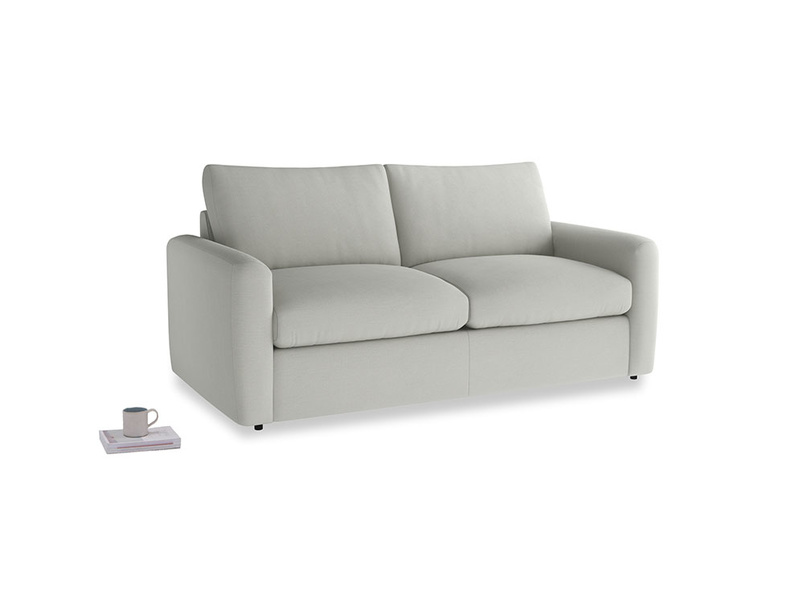 Chatnap Sofa Bed in Mineral grey clever linen with both arms
