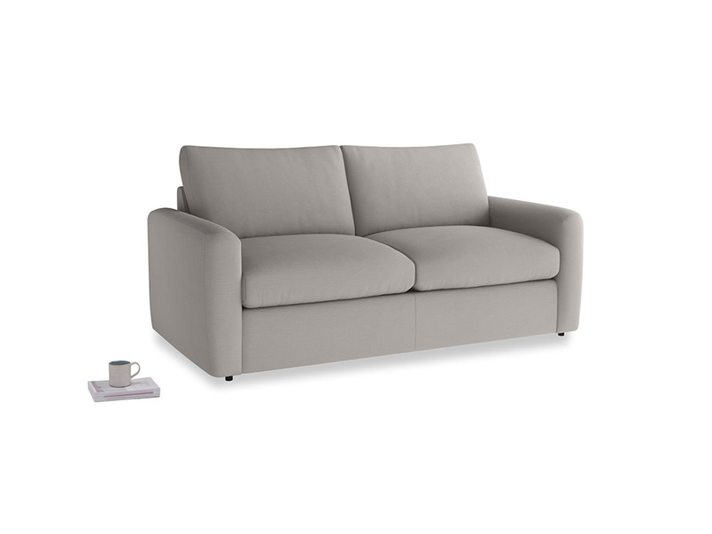 Chatnap Sofa Bed in Safe grey clever linen with both arms