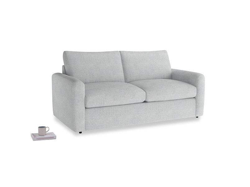 Chatnap Sofa Bed in Pebble vintage linen with both arms