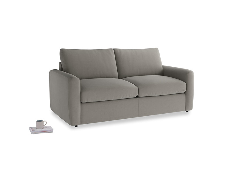 Chatnap Sofa Bed in Monsoon grey clever cotton with both arms