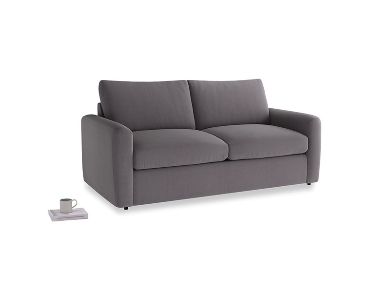 Chatnap Sofa Bed in Graphite grey clever cotton with both arms