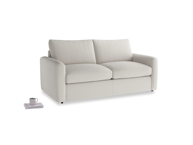 Chatnap Sofa Bed in Moondust grey clever cotton with both arms