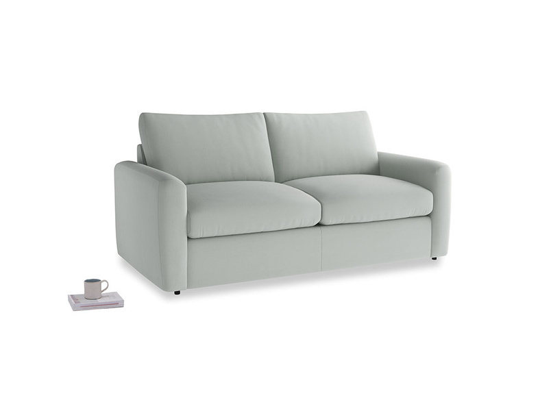 Chatnap Sofa Bed in Eggshell grey clever cotton with both arms
