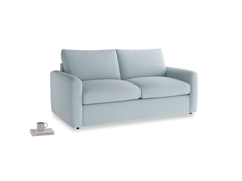 Chatnap Sofa Bed in Scandi blue clever cotton with both arms