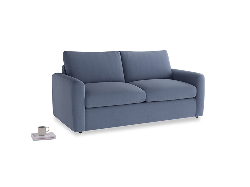 Chatnap Sofa Bed in Breton blue clever cotton with both arms