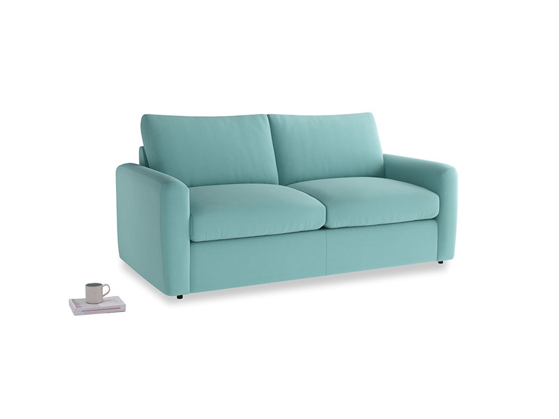 Chatnap Sofa Bed in Kingfisher clever cotton with both arms