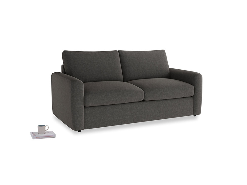 Chatnap Sofa Bed in Old Charcoal brushed cotton with both arms