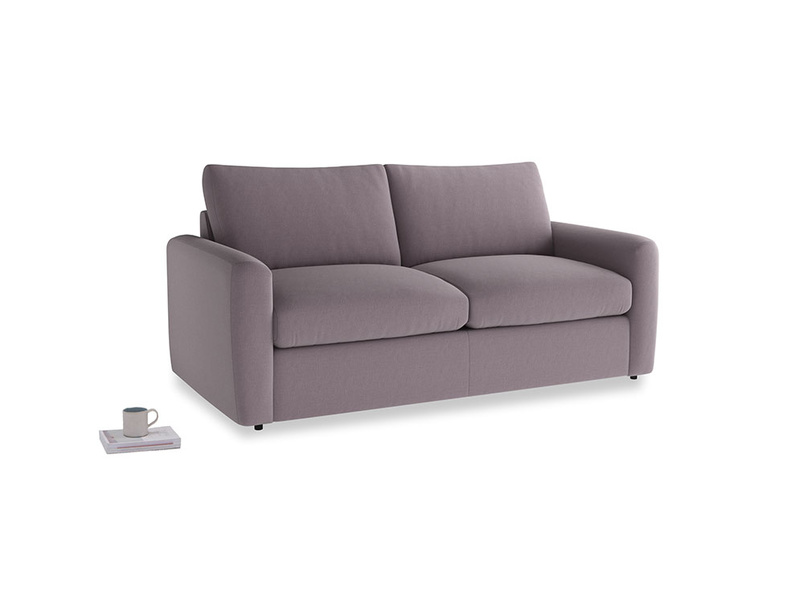 Chatnap Sofa Bed in Lavender brushed cotton with both arms