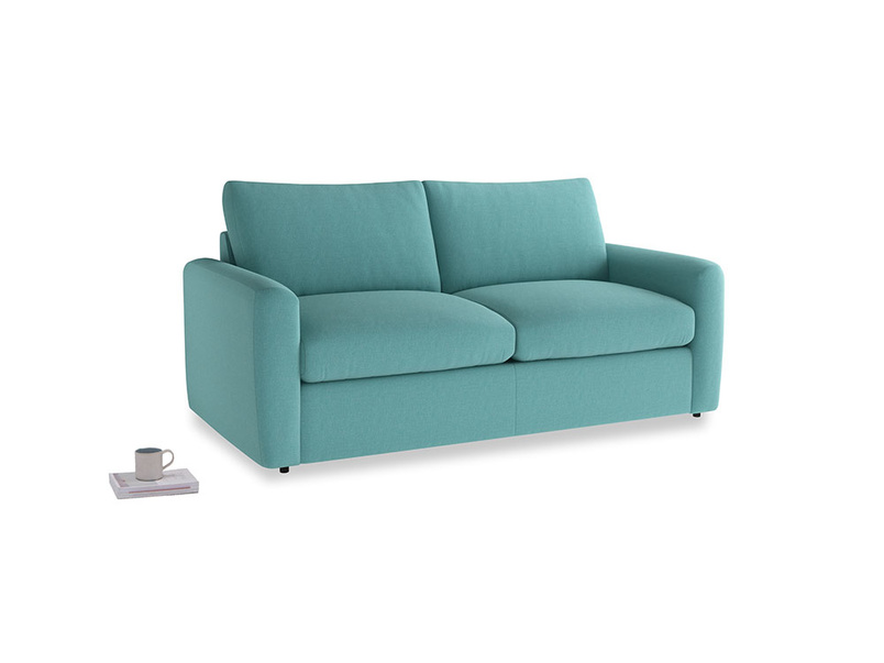 Chatnap Sofa Bed in Peacock brushed cotton with both arms