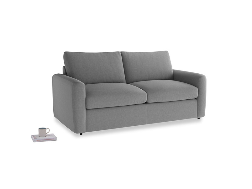 Chatnap Sofa Bed in Gun Metal brushed cotton with both arms