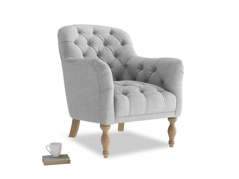 Reader Armchair in Cobble house fabric