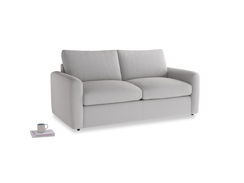 Chatnap Sofa Bed in Flint brushed cotton with both arms