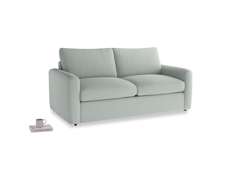 Chatnap Sofa Bed in French blue brushed cotton with both arms