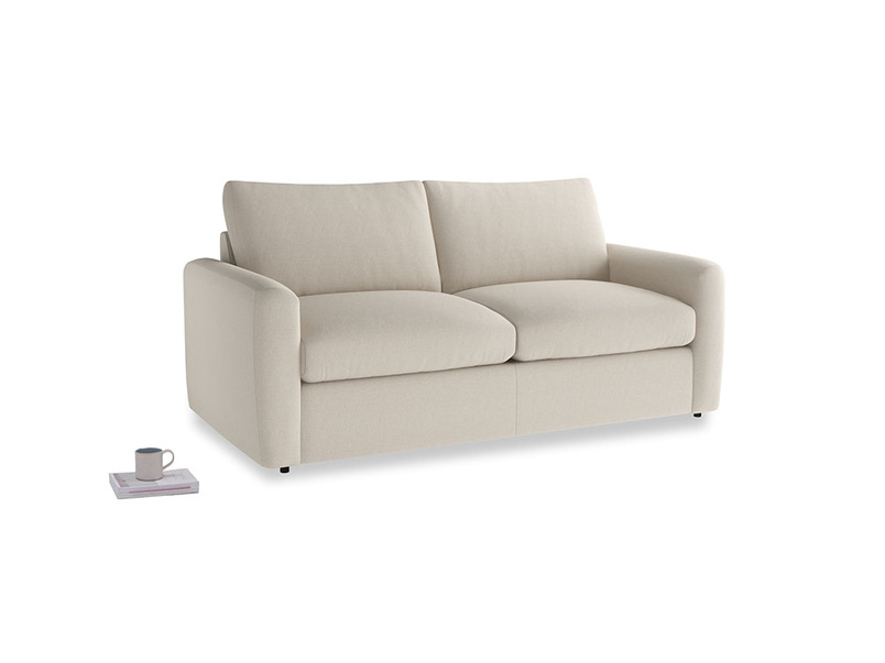 Chatnap Sofa Bed in Buff brushed cotton with both arms