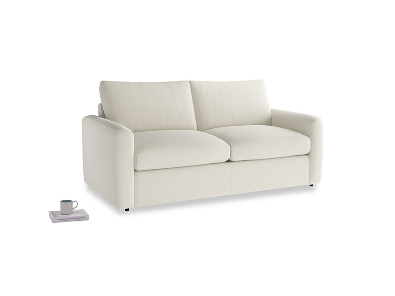 Chatnap Sofa Bed in Oat brushed cotton with both arms