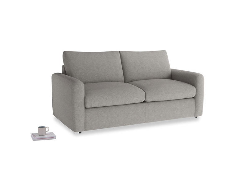 Chatnap Sofa Bed in Marl grey clever woolly fabric with both arms