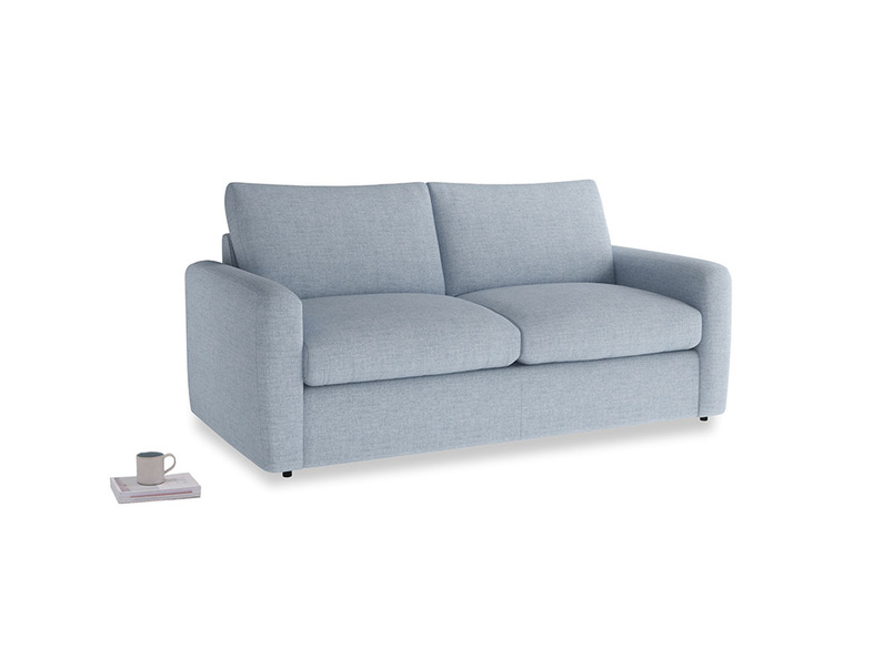 Chatnap Sofa Bed in Frost clever woolly fabric with both arms