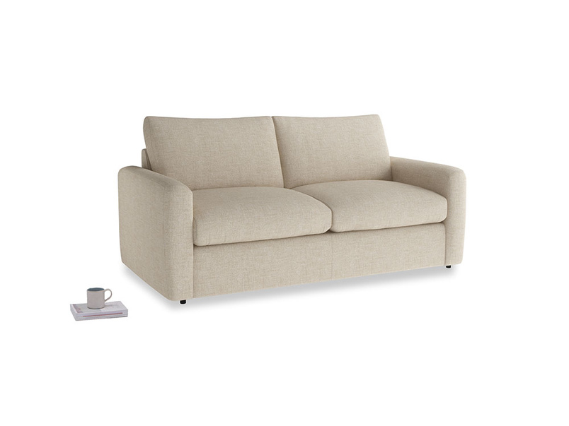 Chatnap Sofa Bed in Flagstone clever woolly fabric with both arms