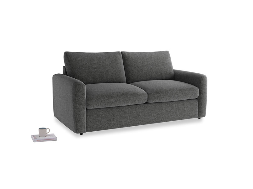 Chatnap Sofa Bed in Shadow Grey wool with both arms