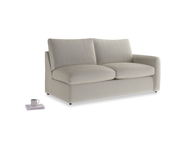 Chatnap Sofa Bed in Smoky Grey clever velvet with a right arm