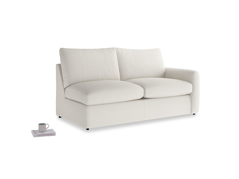 Chatnap Sofa Bed in Oyster white clever linen with a right arm