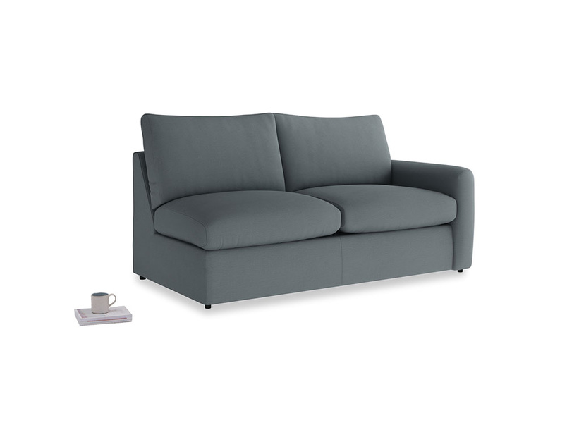 Chatnap Sofa Bed in Meteor grey clever linen with a right arm
