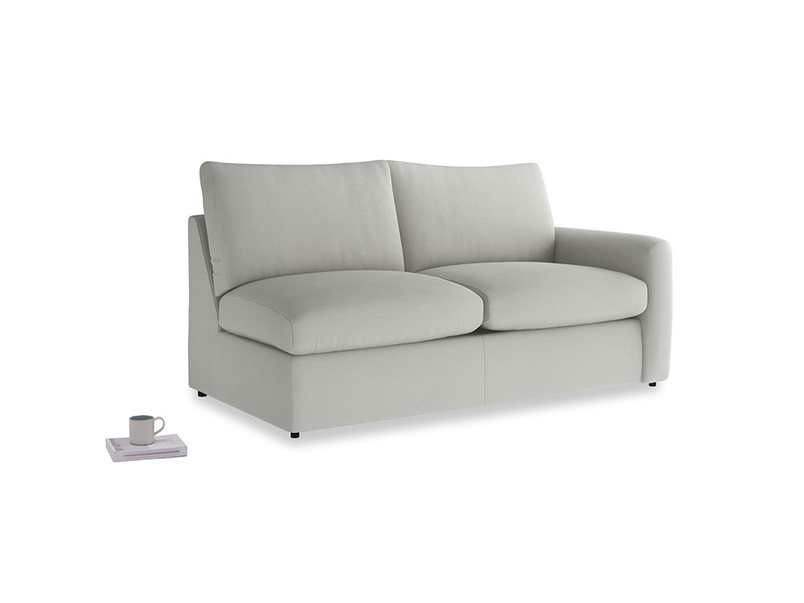 Chatnap Sofa Bed in Mineral grey clever linen with a right arm