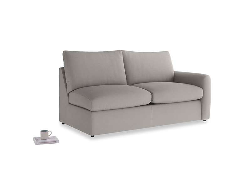 Chatnap Sofa Bed in Safe grey clever linen with a right arm