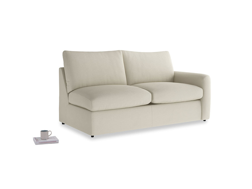Chatnap Sofa Bed in Pale rope clever linen with a right arm