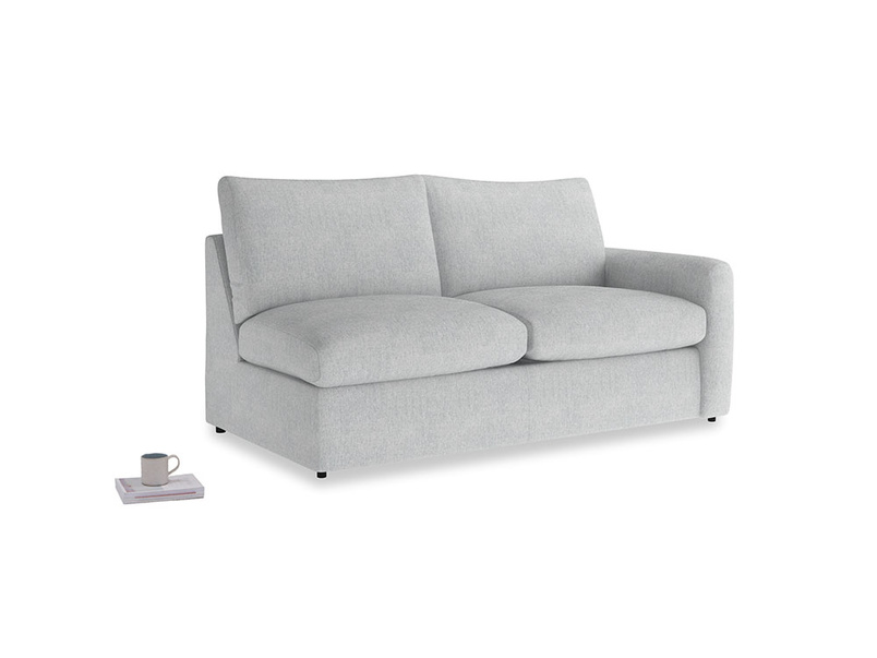 Chatnap Sofa Bed in Pebble vintage linen with a right arm
