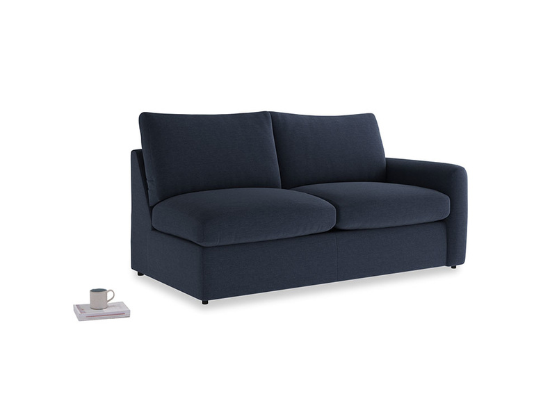 Chatnap Sofa Bed in Indigo vintage linen with a right arm