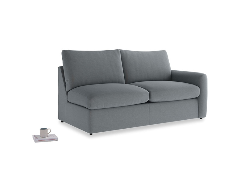 Chatnap Sofa Bed in Dusk vintage linen with a right arm