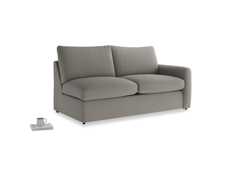 Chatnap Sofa Bed in Monsoon grey clever cotton with a right arm