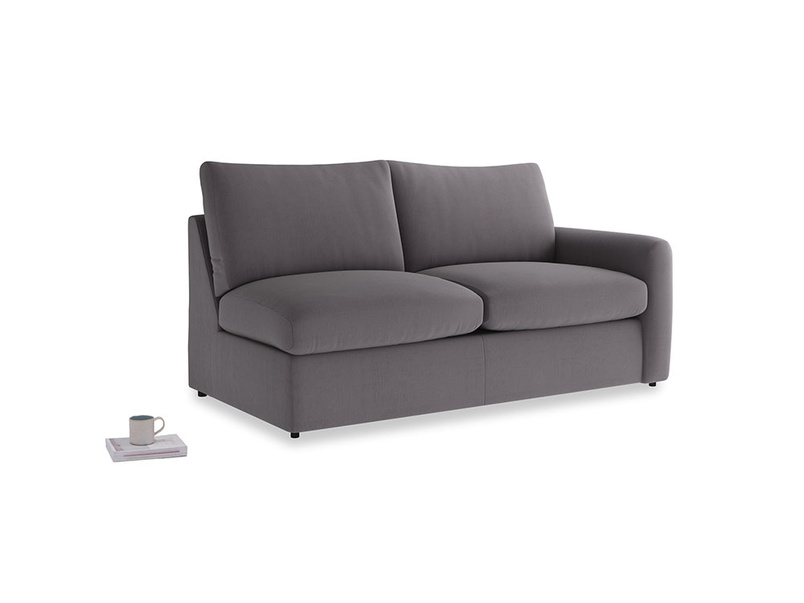 Chatnap Sofa Bed in Graphite grey clever cotton with a right arm