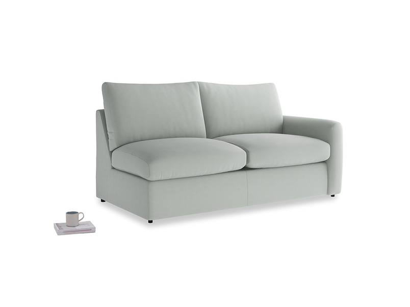 Chatnap Sofa Bed in Eggshell grey clever cotton with a right arm