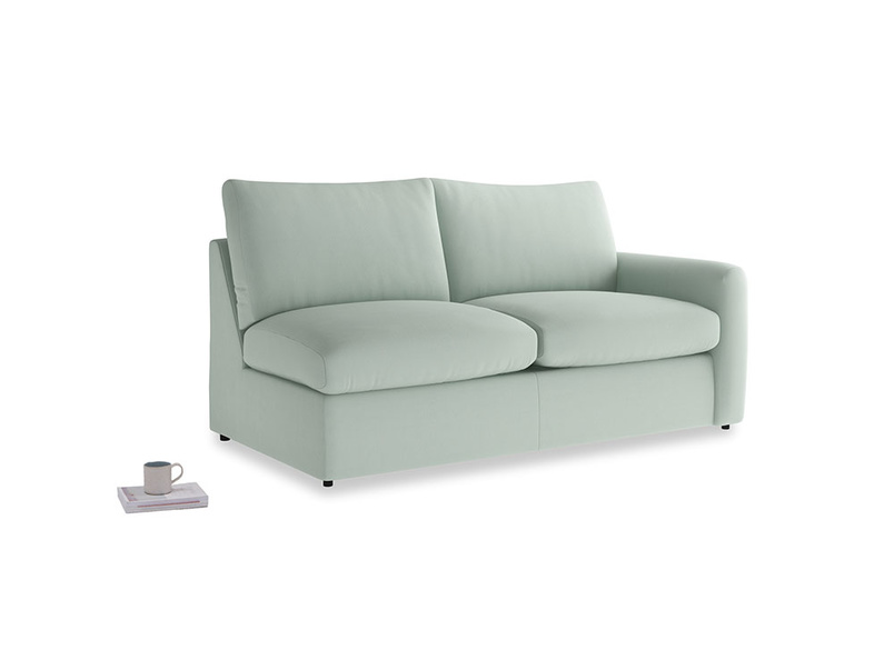 Chatnap Sofa Bed in Sea surf clever cotton with a right arm