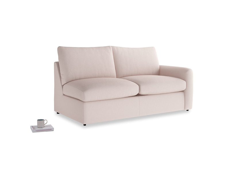 Chatnap Sofa Bed in Faded Pink brushed cotton with a right arm