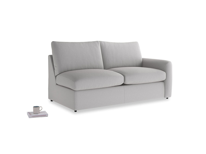 Chatnap Sofa Bed in Flint brushed cotton with a right arm