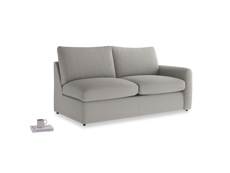Chatnap Sofa Bed in Wolf brushed cotton with a right arm
