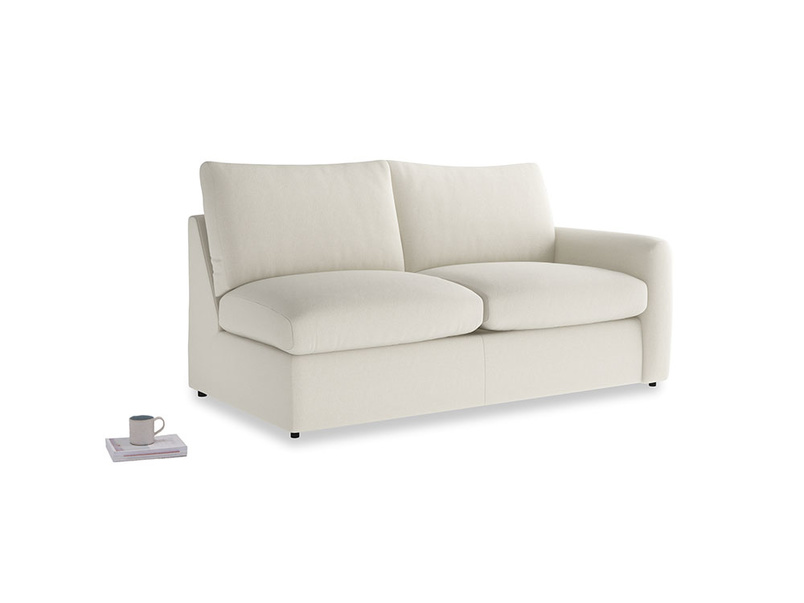 Chatnap Sofa Bed in Oat brushed cotton with a right arm