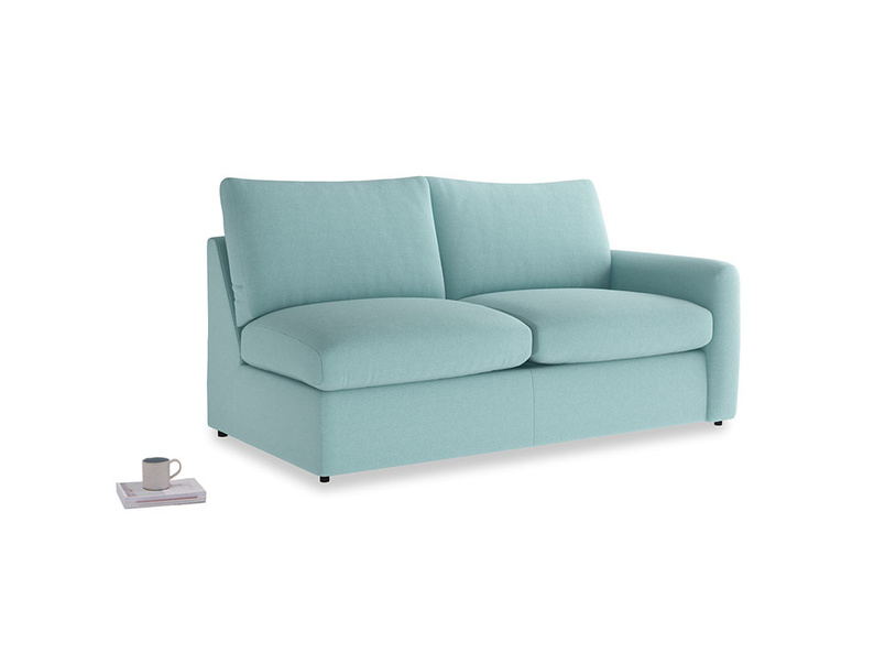 Chatnap Sofa Bed in Adriatic washed cotton linen with a right arm