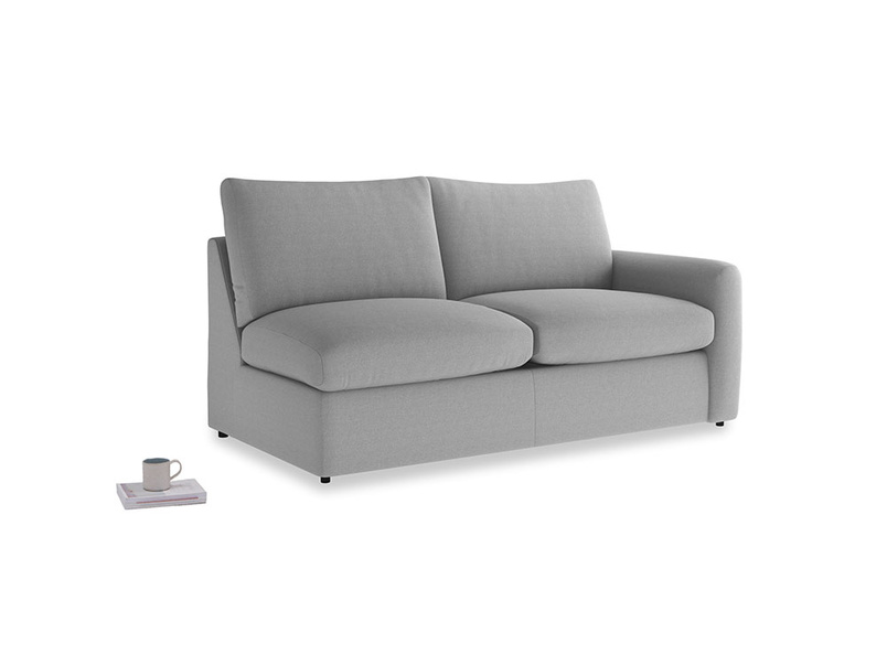 Chatnap Sofa Bed in Magnesium washed cotton linen with a right arm